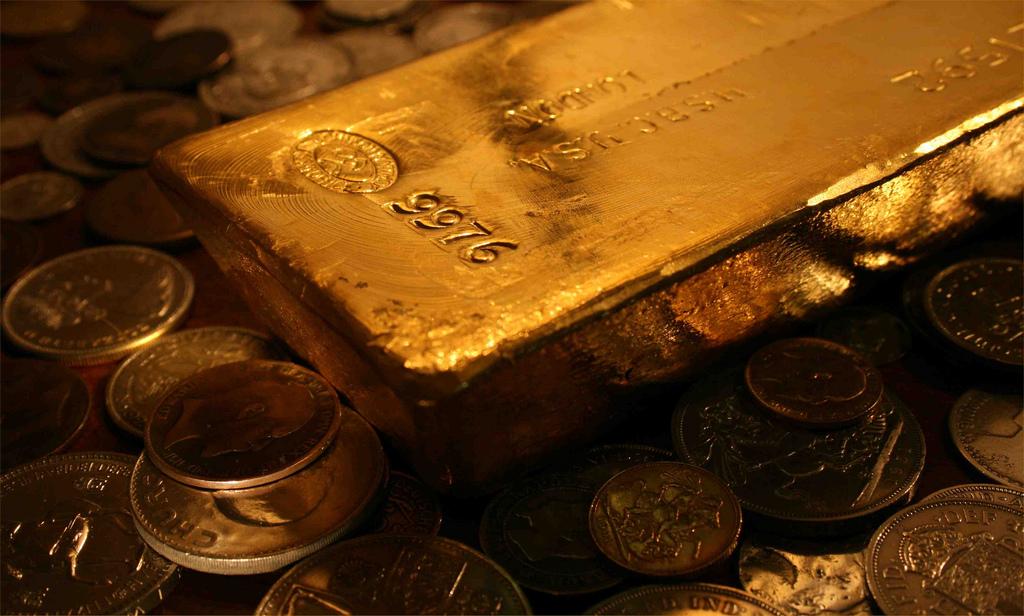 lingot et pièces d'or
