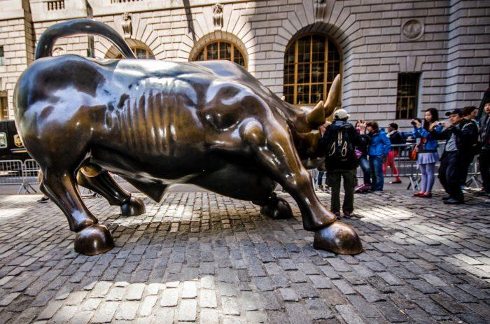 le bull de la bourse de Wall Street