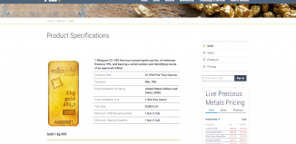 Site d'Allocated Bullion Exchange (ABX)