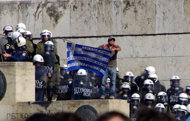 manifestation en Grèce contre l'austérité