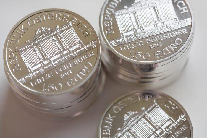 pièces d'argent métal