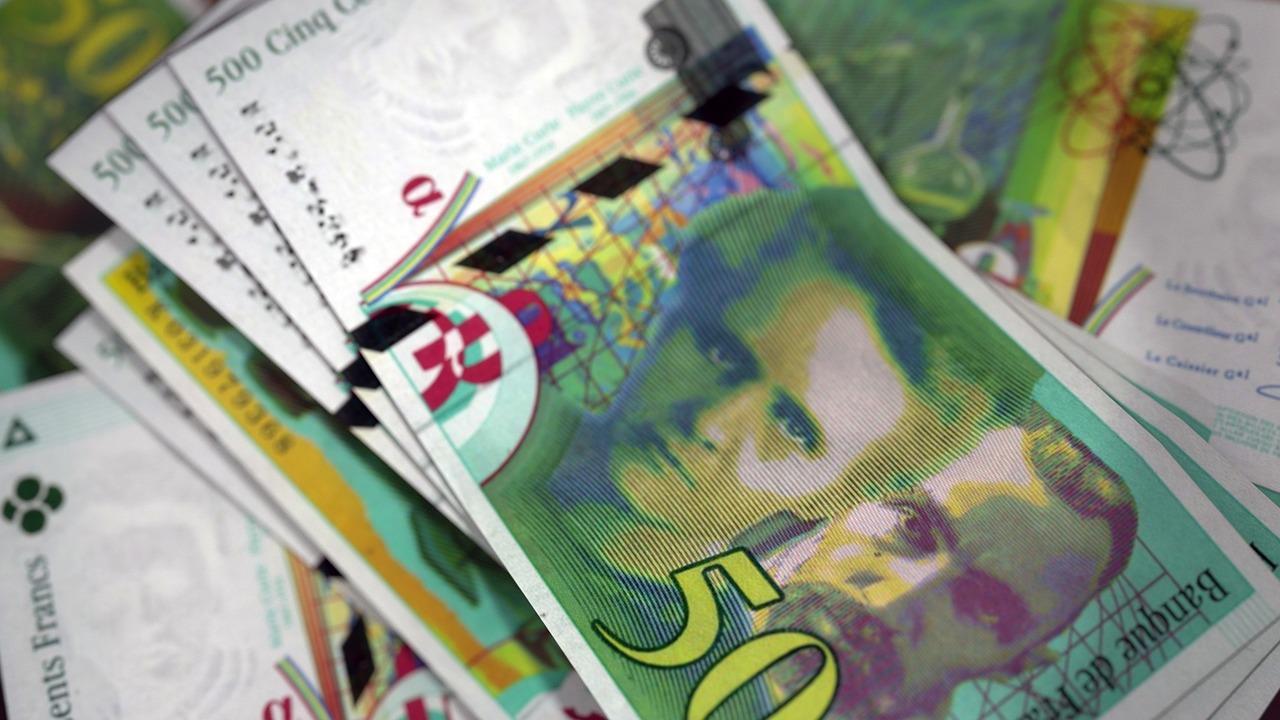 franc francais billets