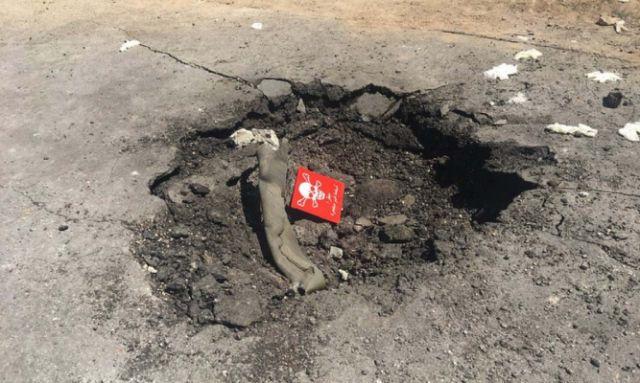 cratère en Syrie attaque au gaz