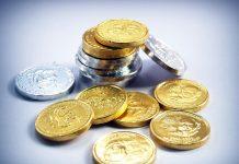 pièces d'or et d'argent