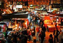Marché en Chine (Hong Kong)