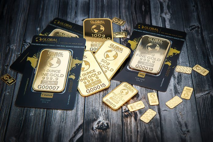 lingotins d'or de 50 grammes, 20 grammes, etc.