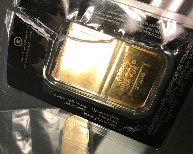 faux lingotin d'or rcm