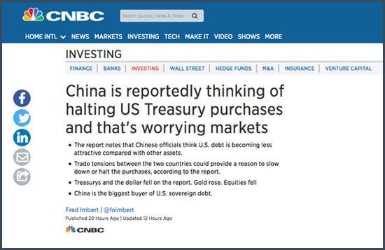 CHine obligations américaines