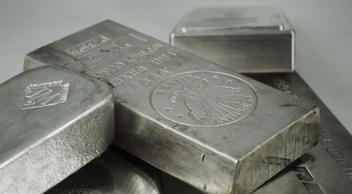 lingots d'argent métal