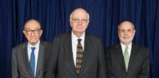 Paul Volcker (avec Greenspan et Bernanke)