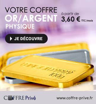 Coffre Privé - Coffre Or/Argent à partir de  3,60 € TTC/mois