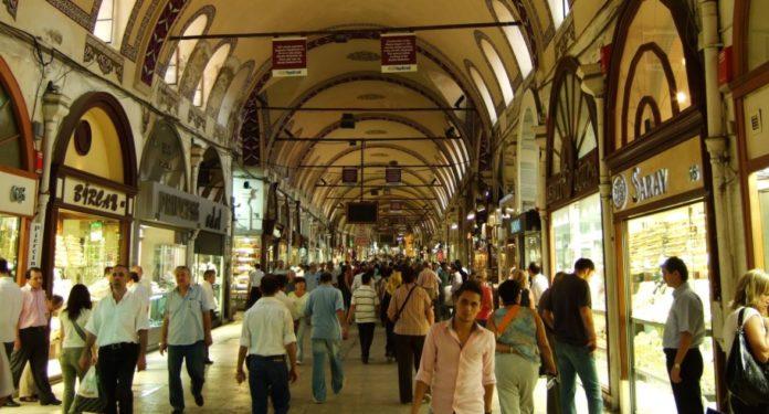 Grand bazar d'Istanbul, or